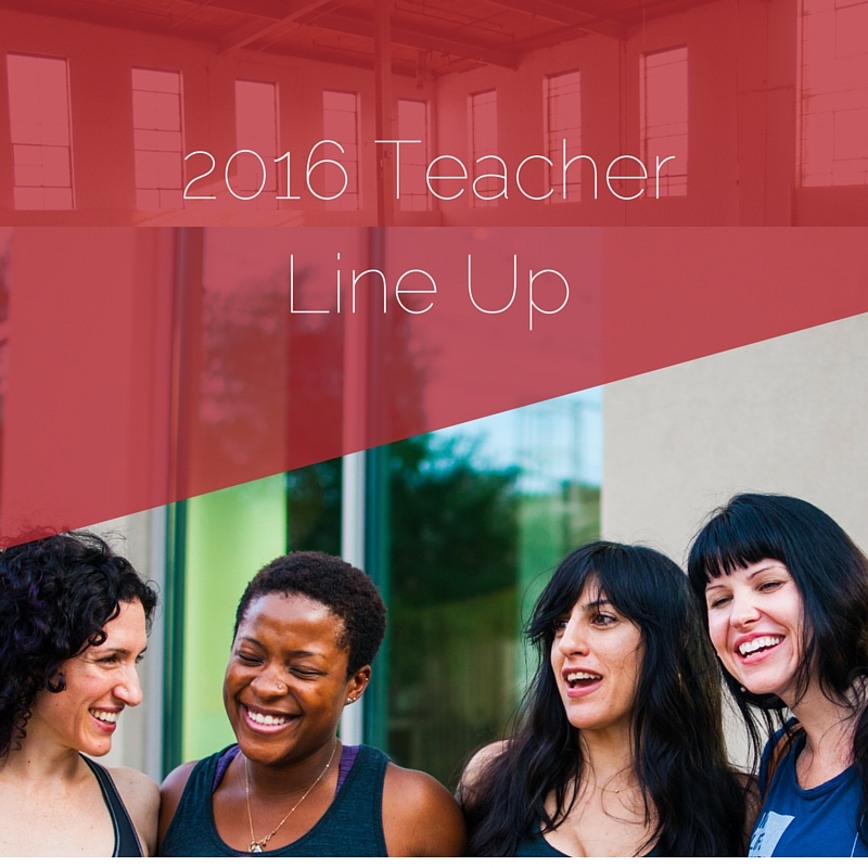 2016 Yoga Teacher Line Up